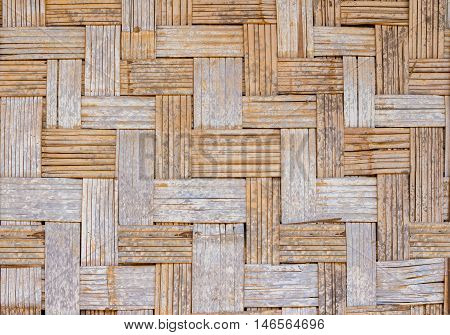old bamboo wall weave, background pattern texture