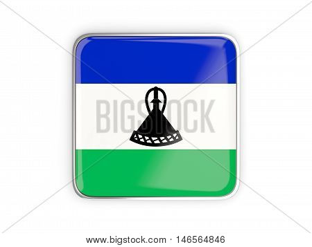 Flag Of Lesotho, Square Icon