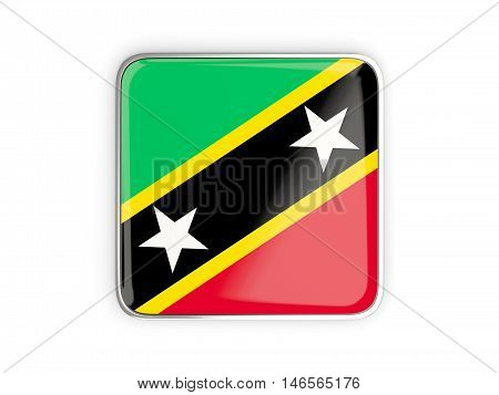 Flag Of Saint Kitts And Nevis, Square Icon