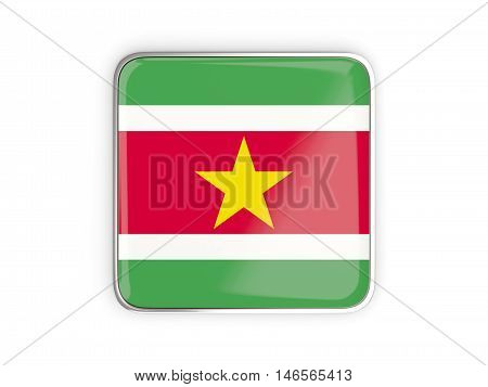Flag Of Suriname, Square Icon