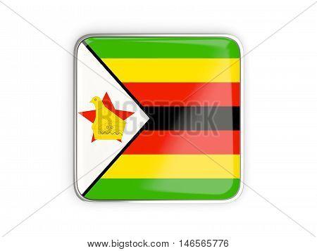 Flag Of Zimbabwe, Square Icon