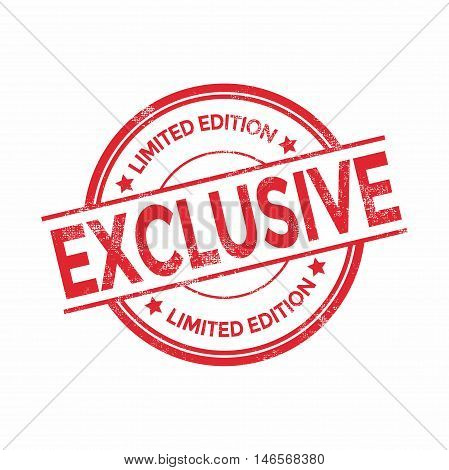 Exclusive red rubber stamp isolated. vector illustration