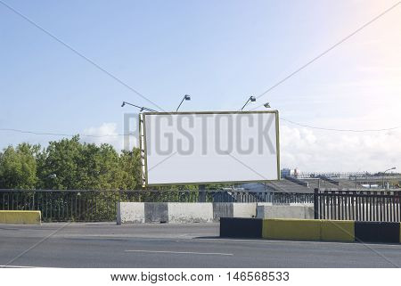 Mock up Billboards on Bridge. Most realistic board for your advertisement.