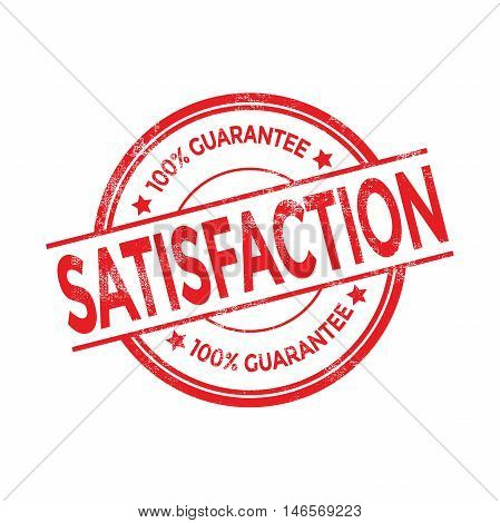 Satisfaction red rubber stamp isolated. vector illustration