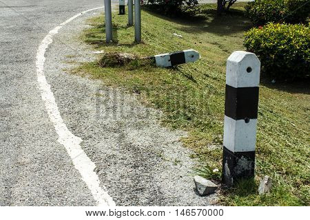 The Outdoor pole in roadside on thailand
