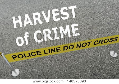Harvest Of Crime Concept