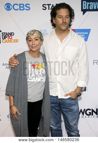 Shannen Doherty and Kurt Iswarienko at the 5th Biennial Stand Up To Cancer held at the Walt Disney Concert Hall in Los Angeles, USA on September 9, 2016.