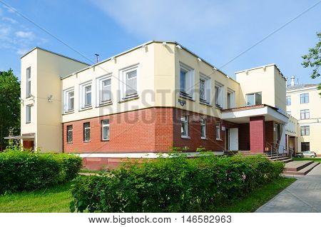 VITEBSK BELARUS - JULY 13 2016: Student canteen of Vitebsk State Order of Peoples' Friendship Medical University Belarus