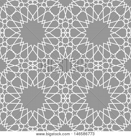 Geometric arabic seamless pattern. Abstract background vector.