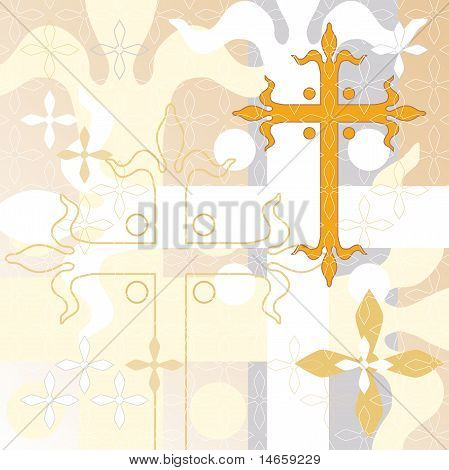 Decorative cross background
