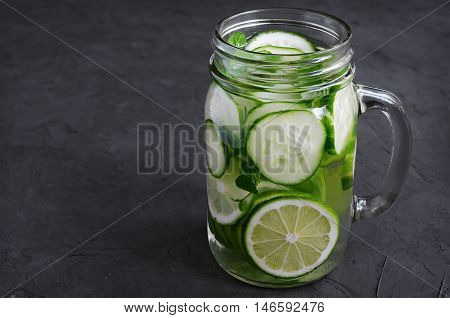 Detox Water With Cucumber And Lime