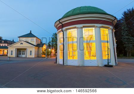 Frantisek Pavilion which houses Frantisek mineral spring belongs to the oldest and most famous structures in Frantiskovy Lazne Spa town in the North Czech Republic.