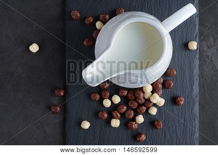 Cereal Balls And Milk