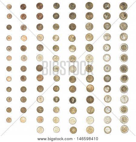 Vintage Euro Coin Money