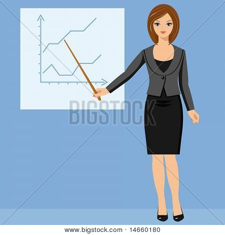Businesswoman And Schedule