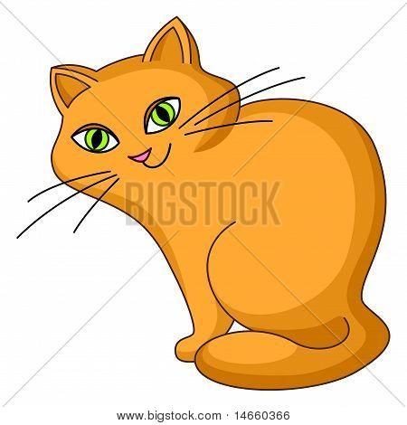 Cat kind sits