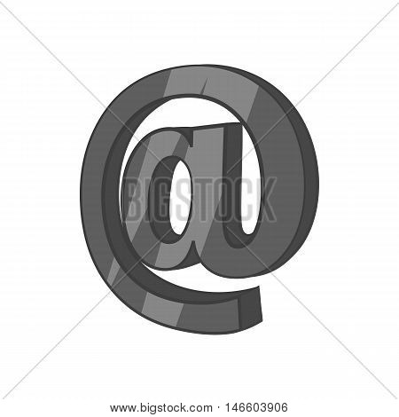 Sign e-mail icon in black monochrome style isolated on white background. Send letters symbol vector illustration