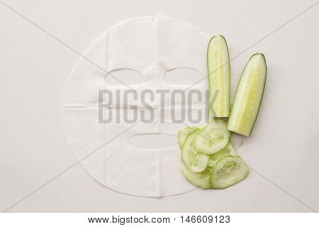 natural sheet mask extracts from cucumber for the face skin care