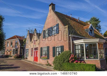 Traditional Houses In The Center Of Blokzijl