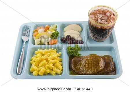 Salisbury steak cafeteria style