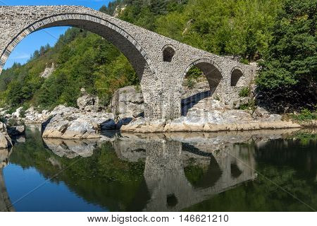 Amazing view of  Devil's Bridge and Arda river, Kardzhali Region, Bulgaria