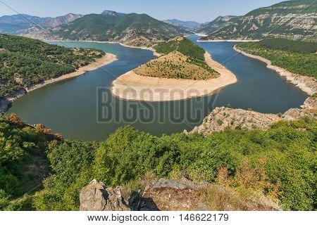 Arda River meander and Rhodopes mountain, Kardzhali Region,  Bulgaria