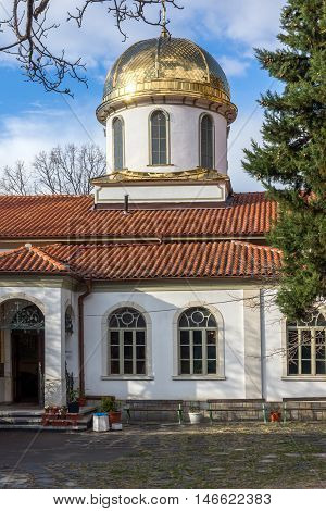 Amazing Panorama and Golden Dome of The Fish Church, St. Mary the Annunciation, Asenovgrad,  Plovdiv Region, Bulgaria