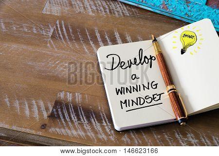 Written Text Develop A Winning Mindset