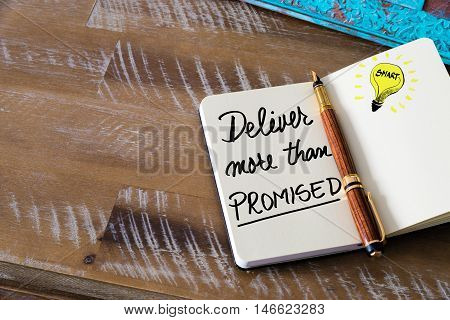 Written Text Deliver More Than Promised