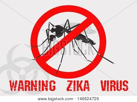 warning zika virus sign eps 10 file