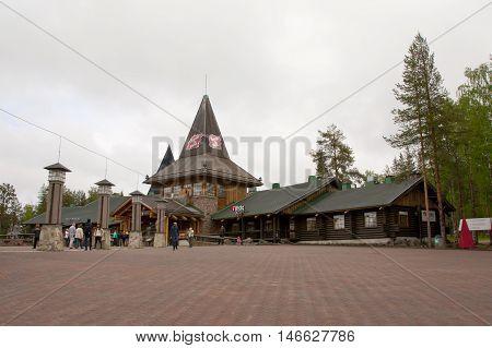 Rovaniemi, Finland - 24 June 2015: Santa Claus Village, Arctic Circle.