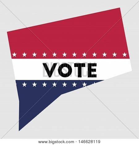 Vote Connecticut State Map Outline. Patriotic Design Element To Encourage Voting In Presidential Ele