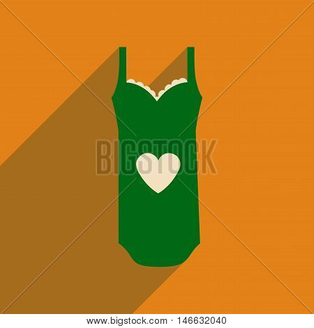 Flat icon with long shadow  Lingerie Dress