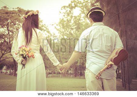 Four port handshake turned Vintage wedding background.