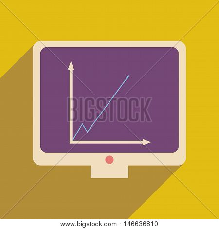 Flat web icon with long  shadow infographics presentation