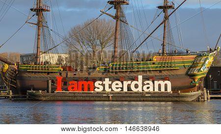 I Amsterdam On Historic Cargo Schip The Amsterdam