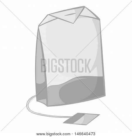 Teabag icon in black monochrome style on a white background vector illustration