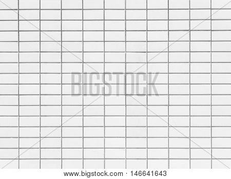 White brick tile wall pattern and background seamless