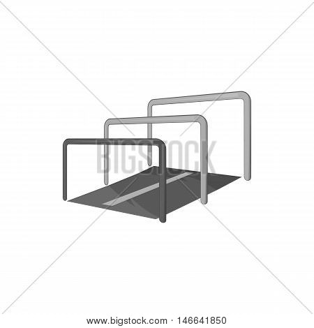 Hurdle icon in black monochrome style on a white background vector illustration