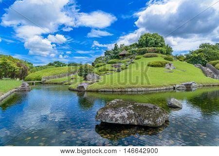Korakuen Japanese garden istyle n Okayama Japan