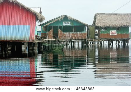 August 10, 2010 - Nzulezo, Ghana: The village of Nzulezo overlooks Lake Tadane in Ghana, West Africa, and is entirely made up of platforms and buildings on stilts.