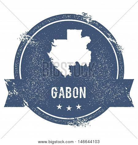 Gabon Mark. Travel Rubber Stamp With The Name And Map Of Gabon, Vector Illustration. Can Be Used As