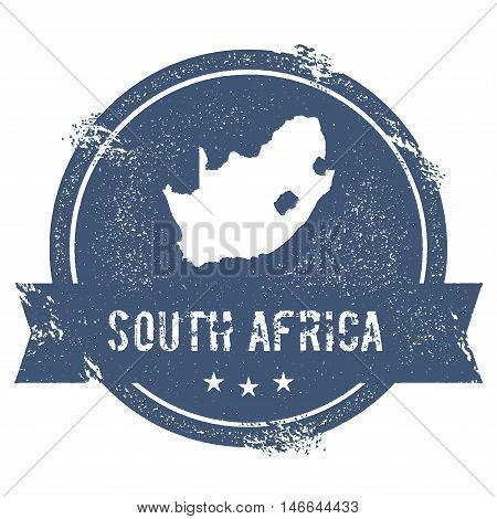 South Africa Mark. Travel Rubber Stamp With The Name And Map Of South Africa, Vector Illustration. C