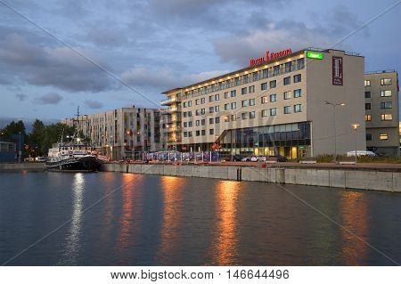 TALLINN, ESTONIA - JULY 31, 2015: A view on the hotel