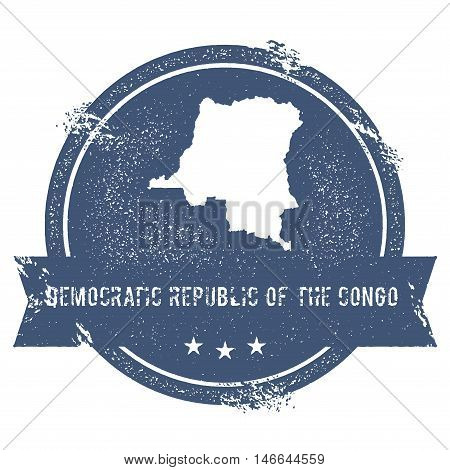 Congo, The Democratic Republic Of The Mark.. Travel Rubber Stamp With The Name And Map Of Congo, The