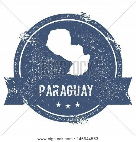 Paraguay Mark. Travel Rubber Stamp With The Name And Map Of Paraguay, Vector Illustration. Can Be Us