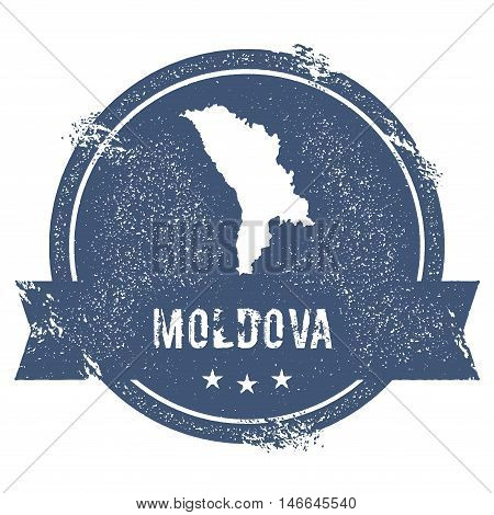 Moldova, Republic Of Mark. Travel Rubber Stamp With The Name And Map Of Moldova, Republic Of, Vector