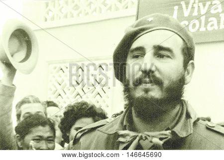 Yangiyer Uzbekistan - May 11 1963: Residents welcomed Fidel.