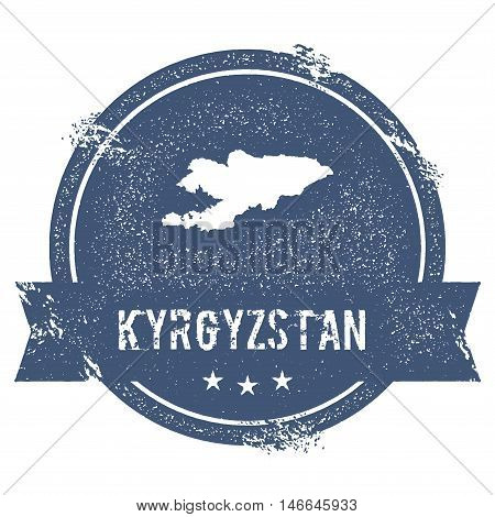 Kyrgyzstan Mark. Travel Rubber Stamp With The Name And Map Of Kyrgyzstan, Vector Illustration. Can B