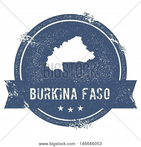Burkina Faso Mark. Travel Rubber Stamp With The Name And Map Of Burkina Faso, Vector Illustration. C